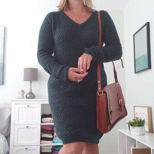 Dark Green cozy knit dress